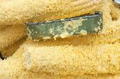 Ralado milho verde perto — Foto Stock