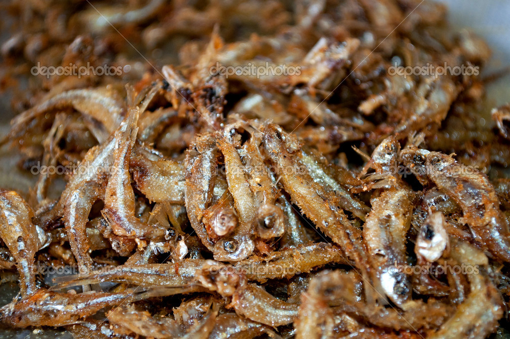 Close of a lot of tetra fish fried, delicious  — Stock Photo #11059561