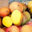 Stock Photo: Mangoes and Passion Fruit