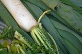 Turnip on market — Stock Photo