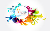 Abstract floral colorful banner — Stock Vector