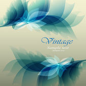 Floral Background Vintage — Stock Vector