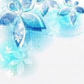 Abstraktní pozadí modré květy — Stock vektor