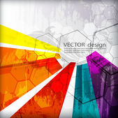 Illustrated colorful layout with abstraction — Stock Vector