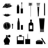 Iconos de maquillaje — Vector de stock