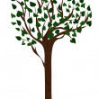 Vector de stock : Tree with green leaves