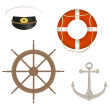 Stock Vector: Range of marine accessories