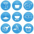 Vector de stock : Food icons