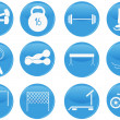 Sport and fitness icons — Vector de stock #11851593
