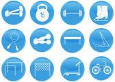 Icone sport e fitness — Vettoriale Stock