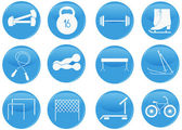 Sport a fitness ikony — Stock vektor