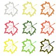 Set of maple leaves — Imagen vectorial