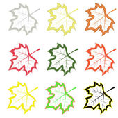 Set of maple leaves — Vector de stock