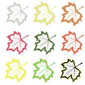 Akçaağaç yaprakları kümesi — Stok Vektör