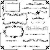 Conjunto de elementos de diseño caligráfico — Vector de stock