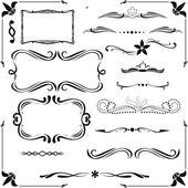 Verzameling van kalligrafische ontwerpelementen — Stockvector
