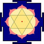 Shri Krishna-yantra — Stock Vector