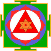 Shri Ganesha-Yantra — Stock Vector