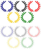 Olympic rings from laurel wreaths — Stock Vector