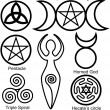 Постер, плакат: Set of the Wiccan symbols