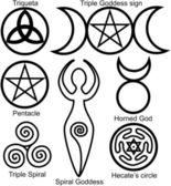 Ensemble des symboles wiccans — Vecteur