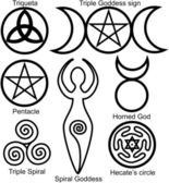Set of the Wiccan symbols — Stock Vector