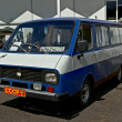 Stock Photo: Old car show on Retrofest. Minibus RAF