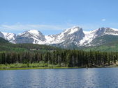 Rocky Mountain lake — Stock Photo