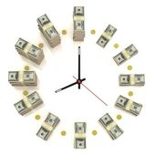 Dollar clock — Stock Photo