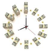 Dollar clock — Stock Photo