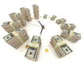 Time is money. Isolated on white — Stock Photo