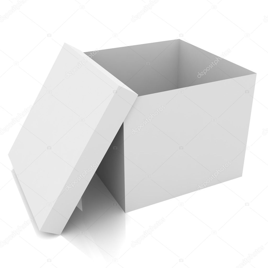 White blank open box isolated  Foto Stock #11177135