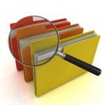 File search concept — Stock Photo