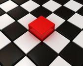 Один из различных красная рамка в других — Стоковое фото