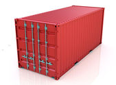 Red freight container — Stock Photo