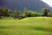Golf at Base of Mountains — Stock Photo