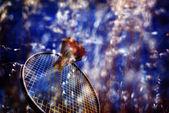 Badminton Action — Stock Photo