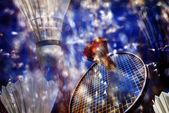 Badminton Action Memory — Stock Photo