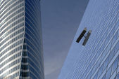 Window cleaner high up — Stock Photo