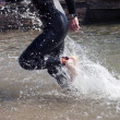 Running in water — Stock Photo