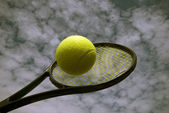 Tennis outdoors — Stock Photo