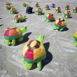 Turtle Kites on sand — Stock Photo