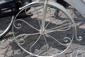 Koło rowerowe starodawny streszczenie — Zdjęcie stockowe