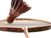 Badminton Gold on White — Stock Photo