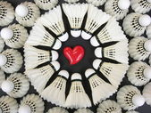 Badminton Love — Stock fotografie