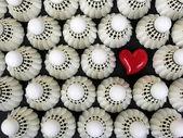 I Love Badminton — Стоковое фото