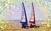 Abstract summer sailing — Stock Photo
