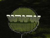 Badminton WWW — Stock Photo