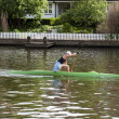 Stock Photo: Canoe paddling