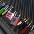Love locks — Stock Photo